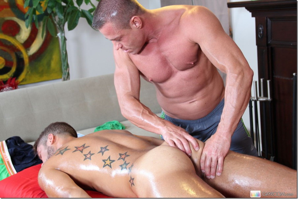 gay tied and fuck straight guy in massage porn
